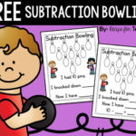 Free Subtraction Bowling Printable Game