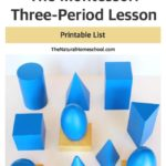 The Montessori Three-Period Lesson {Printable List}