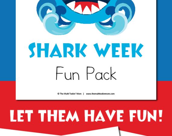 Shark Week Fun Pack Freebie