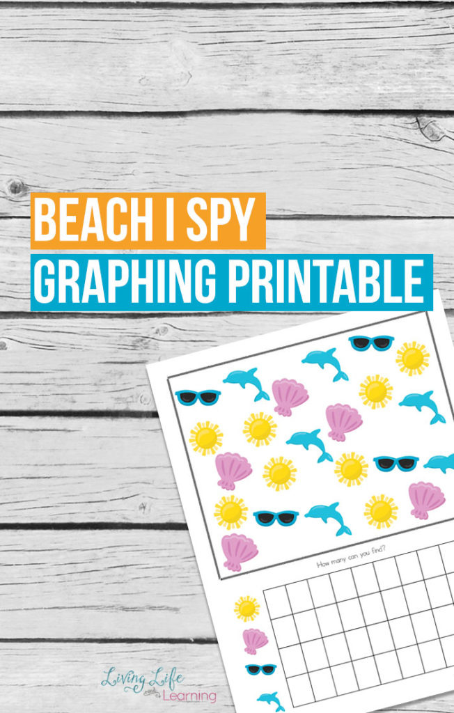 Whether you are traveling to the beach or just dreaming of it this summer, don't miss this fun Beach themed I Spy graphing printable perfect for your active learner! :: www.thriftyhomeschoolers.com