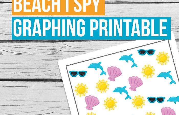 Free Beach I Spy Graphing Printable