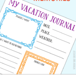 Family Vacation Memory Journal Printables