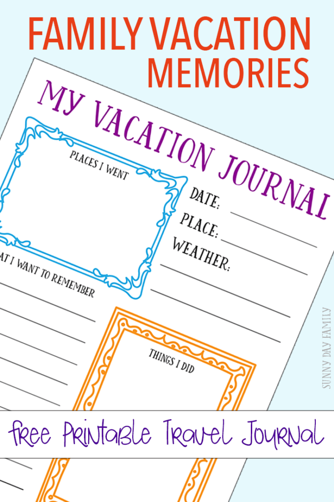 Taking your family on a vacation creates so many lasting memories. Help them record and remember them on their own with these FREE Printable Journal pages. :: www.thriftyhomeschoolers.com