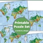 Learn All about the Oceans {World Map Puzzles}