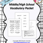 Free Middle & High School Vocab Packet
