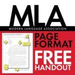 Free MLA Paper Formatting Handout