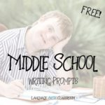 20 Middle School Writing Prompts
