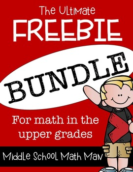 Don't miss this HUGE Math Bundle freebie for grades 4th - 7th. It includes over 180 pages of awesomeness!! :: www.thriftyhomeschoolers.com