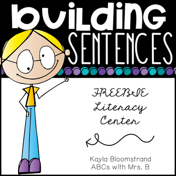 Kids will love practicing their sentence building skills with this fun and free Building Sentences Literacy Center printable set. :: www.thriftyhomeschoolers.com