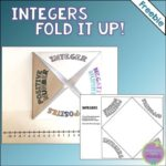 Integer Fold It Up Printable Freebie