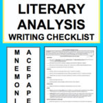 Literary Analysis Paragraph Checklist