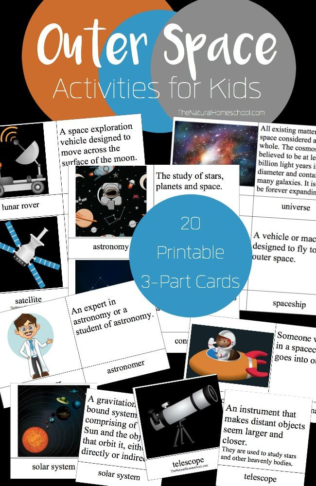 These 3-part Outer Space Activities for Kids are perfect for learning all about our solar system and space travel. :: www.thriftyhomeschoolers.com