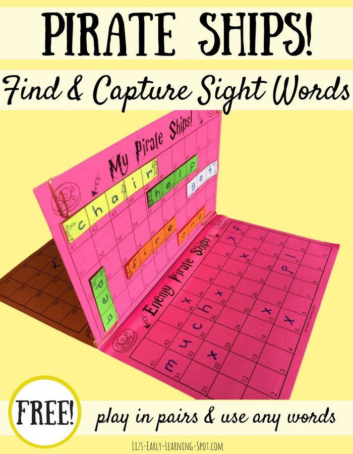 Make practicing sight words fun with this free Pirate Ships! learning game! :: www.thriftyhomeschoolers.com