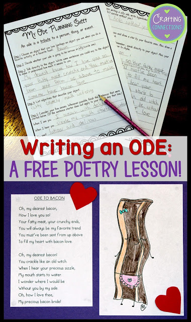 Introduce kids to the fun and funny poem style of ODE's. with this simple and free poetry lesson. :: www.thriftyhomeschoolers.com