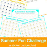 Free Summer Fun Challenge Printables