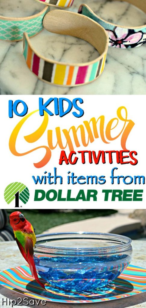 "Do your kids complain of being ""bored""all summer? Head to the dollar store, grab a few items and make these fun Summer activity happen! :: www.thriftyhomeschoolers.com"