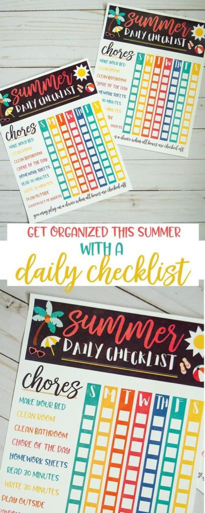 It's not too late to take back the house & chores this summer! Grab this free printable Summer Daily Checklist to help get organized and keep your house clean without losing any of the fun! :: www.thriftyhomeschoolers.com