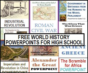 Studying World History this year? Check out these free Powerpoint presentations with notes for High Schoolers! :: www.thriftyhomeschoolers.com