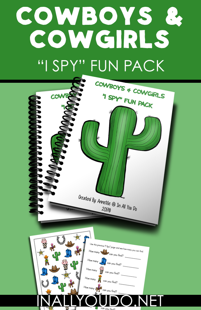 If you have a little cowboy or cowgirl fan in your house, don't miss these fun I Spy Fun Pack printables. :: www.thriftyhomeschoolers.com