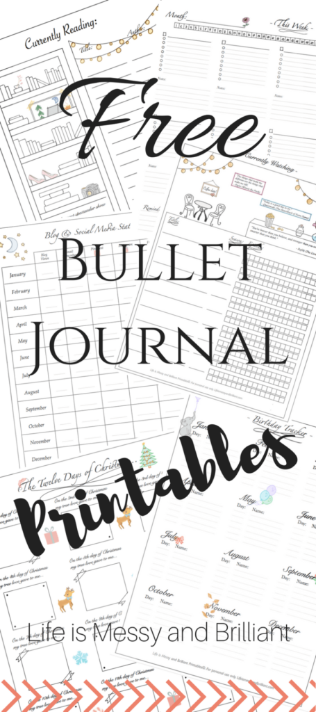 picture about Free Journal Printables titled Bullet Journaling Printables - Thrifty Homeschoolers