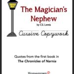 The Magician's Nephew Copywork