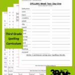 FREE Third Grade Spelling Curriculum