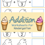 Ice Cream themed Addition Worksheets