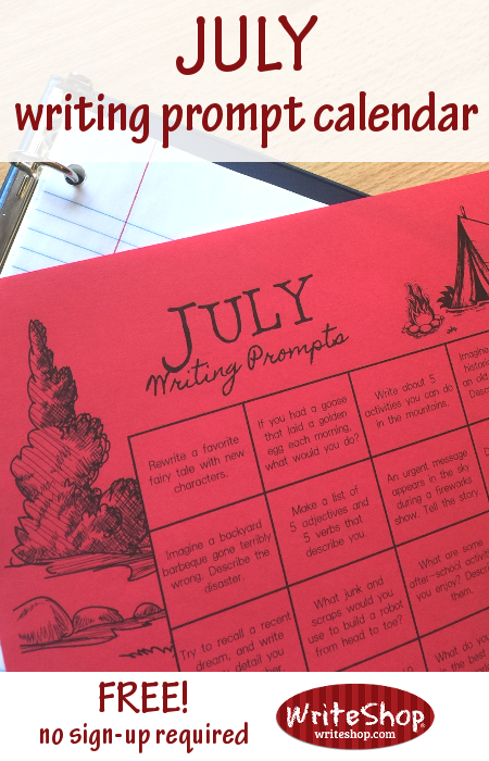 Keep those creative juices flowing this Summer with these fun July Writing Prompts! :: www.thriftyhomeschoolers.com