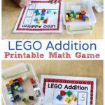 Printable LEGO Addition Math Game