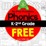 No-Prep Phonics Printables {K-2nd}