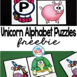 Unicorn Themed Alphabet Puzzles