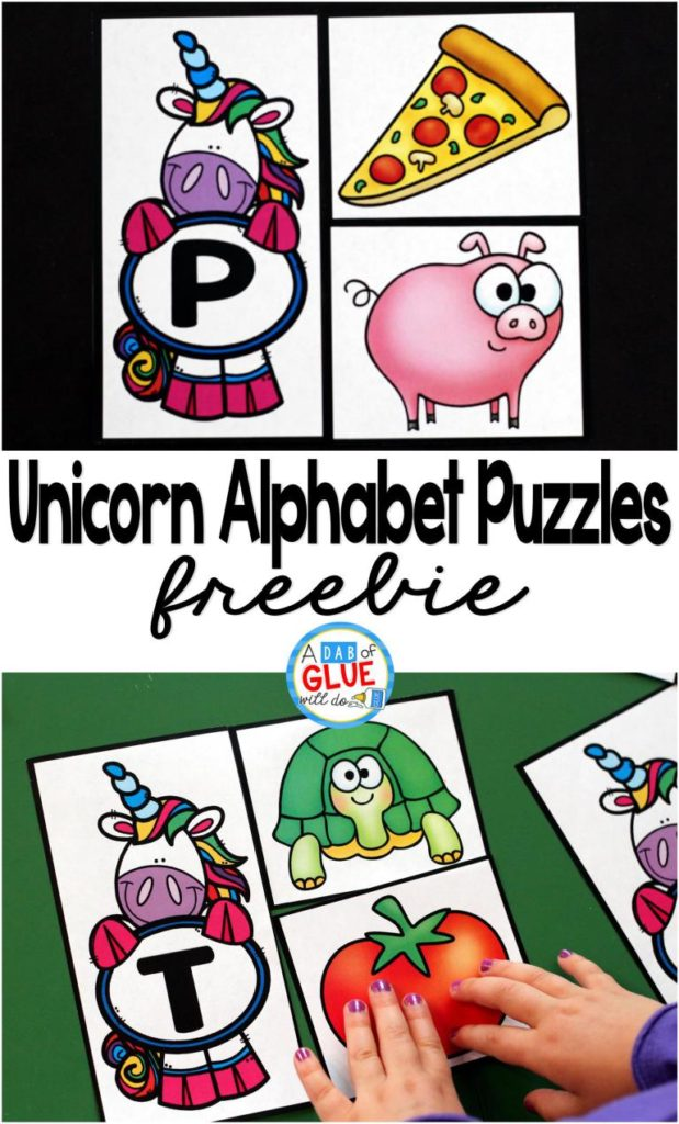 Make learning the alphabet fun and exciting with these bright and cheery Unicorn Alphabet Puzzles! :: www.thriftyhomeschoolers.com