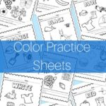 Printable Color Name Practice Sheets