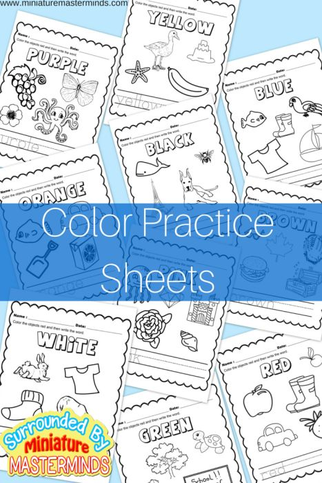 These fun coloring sheets are a great way to help little ones learn their colors. :: www.thriftyhomeschoolers.com