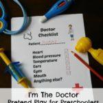Doctor Pretend Play Printable