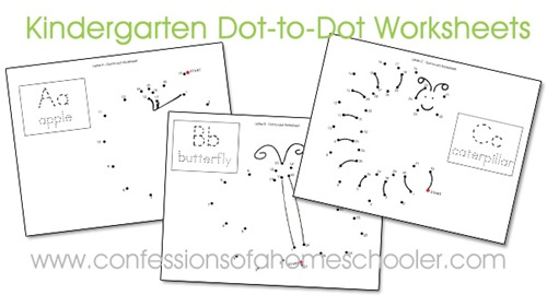 These ABC Dot-to-Dot worksheets are the perfect activity for any preschooler or kindergartener working on their letters and sounds! :: www.thriftyhomeschoolers.com