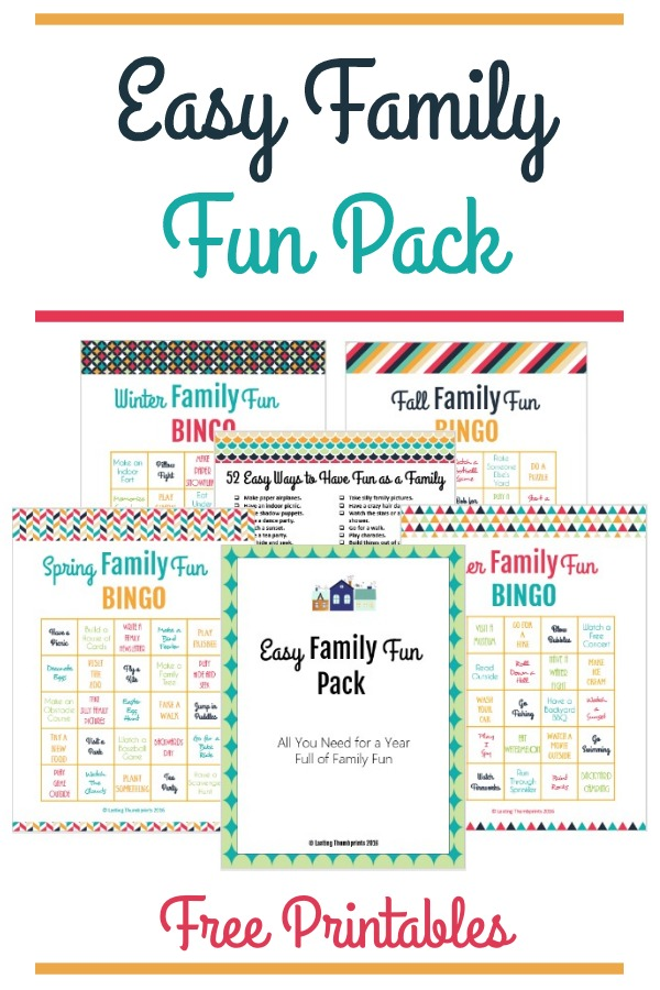 Make memories and build a stronger family relationship with this super fun Easy Family Fun Pack! :: www.thriftyhomeschoolers.com