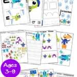 University Monsters Inc. Worksheets for PreK-2nd
