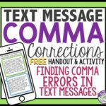 Fun Text Message Comma Corrections Activity