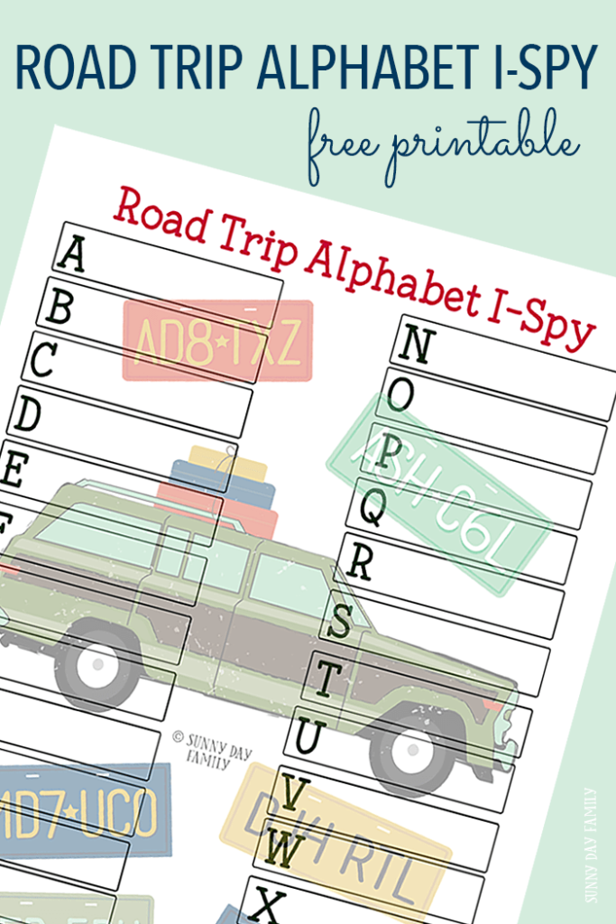 Going on a road trip this summer? Grab this FREE Alphabet Road Trip I Spy printable game! :: www.thriftyhomeschoolers.com