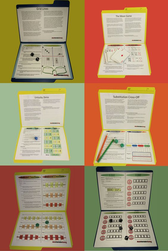Make learning and reviewing math facts and concepts fun with these printable math games for upper elementary and middle school. :: www.thriftyhomeschoolers.com