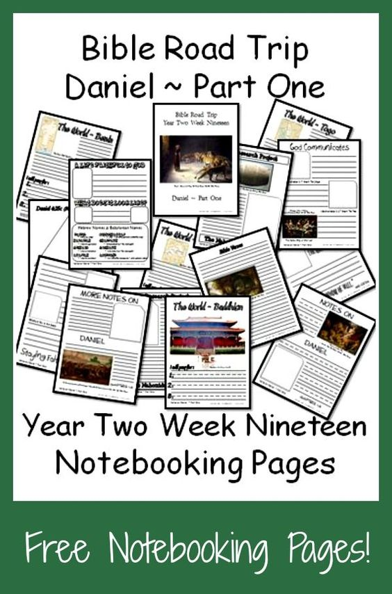 Help kids remember what they've read and studied in the book of Daniel with these Bible Notebooking Pages. :: www.thriftyhomeschoolers.com