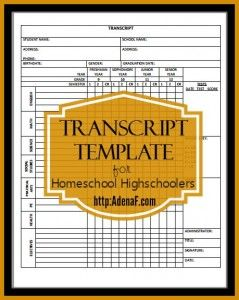 Whether you have a high schooler or are making a four-year plan with your middle schooler, grab this FREE Homeschool High School Transcript Template! :: www.thriftyhomeschoolers.com