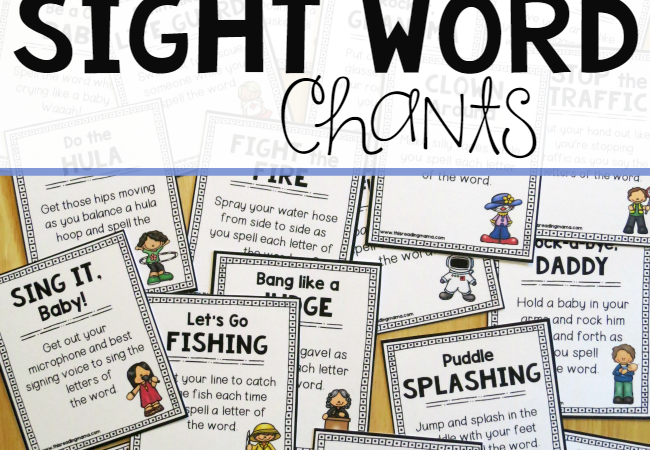 More Sight Word Chant Cards