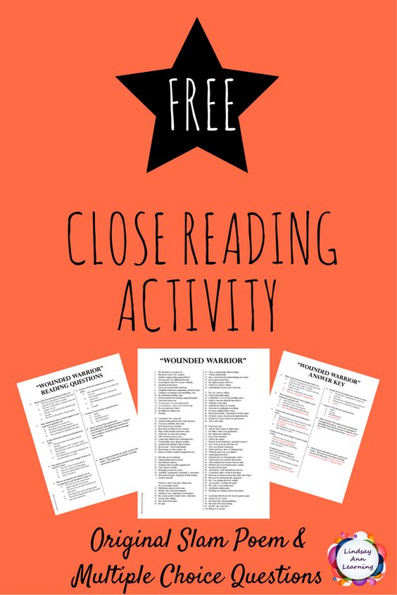 Help students practice close reading skills with thesecomprehension and analysis questionsfor anoriginal slam poem with this free resource. :: www.thriftyhomeschoolers.com