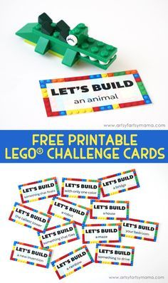 If your kids love playing with LEGO bricks, try giving them a challenge! Grab these free STEM Challenge Cards that give a fun brick building challenge and a way to help kids use their imagination! :: www.thriftyhomeschoolers.com