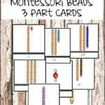 3-part Montessori Bead Cards