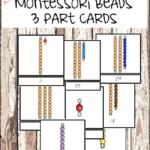 3-part Montessori Bead Cards