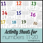 Free Activity Sheets for Numbers 11-20