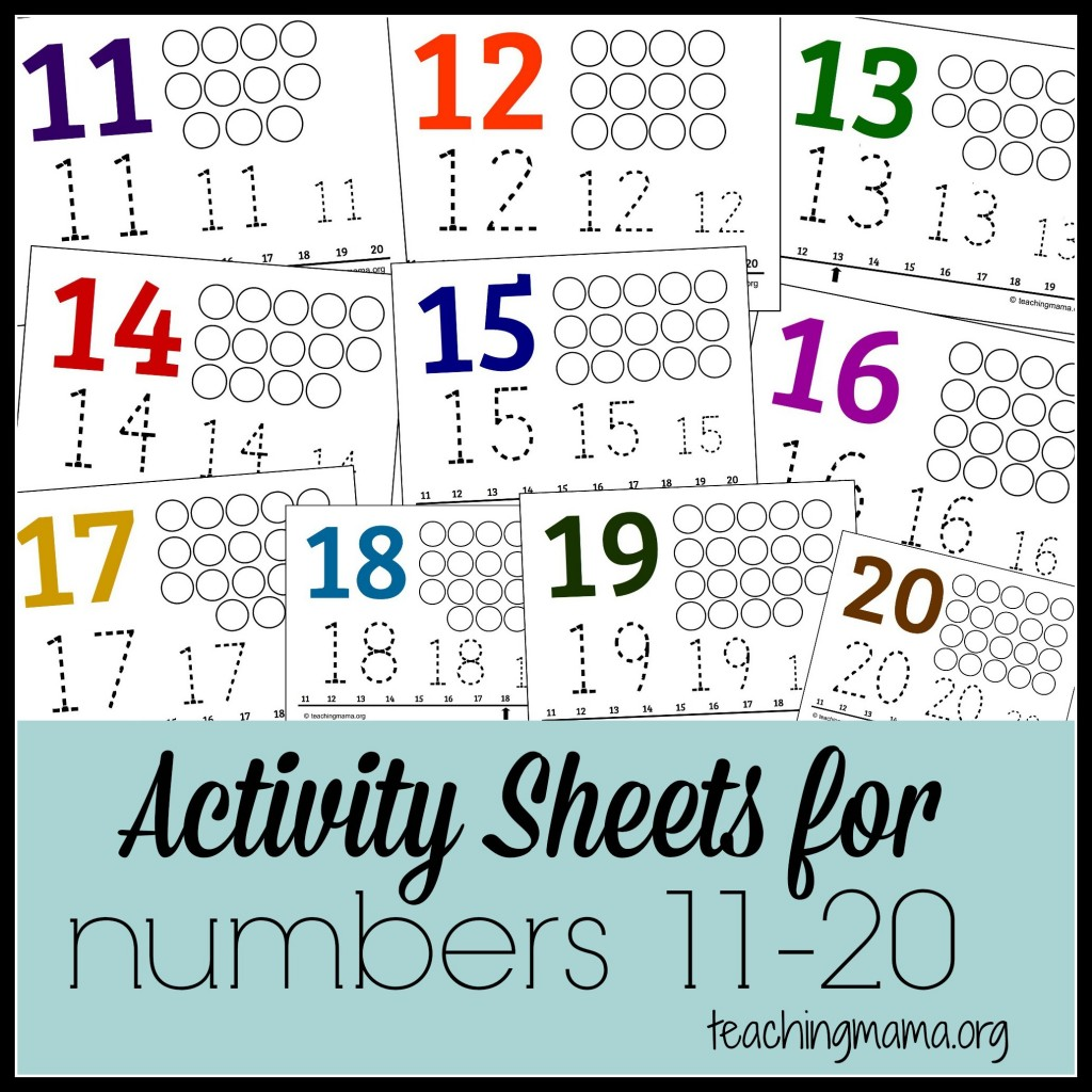 Little ones will enjoy practicing their numbers 11-20 with these fun activity sheets! :: www.thriftyhommeschoolers.com